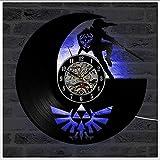 Legend Of LED Leuchtende Schallplatten Wanduhr, 12' Retro Lp Hintergrundbeleuchtung Moderne Manuelle Kunst Dekoration Nachtlicht Uhr