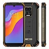DOOGEE S59 (2021) Outdoor Handy, 10050mAh Akku Smartphone Ohne Vertrag, Octa Core 4GB+64GB, 2W Super Lautsprecher, IP68 Stoßfest Robustes Smartphone, 16MP AI Quad-Kamera, 4G Dual SIM GPS NFC, Orange