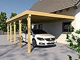 Anlehncarport Carport EIFEL VI 400x700cm Bausatz, Anlehn Carport