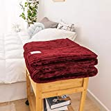 CNZXCO Wolldecke, Wolldecke Grün Baby, Bett Decke, Grüne Farbe Weichen Flanell Decke, Einzigen Königin König Warm Plaids (Color : Red, Size : 120 * 200)