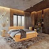 Krok Wood Massivholzbett ELSA in Buche (Schublade zum Bett, universal)