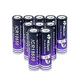 MNJKH 3.7v 6000Mah 18650 Lithium Li Ionen Batterien, Wiederaufladbare Batterie für Taschenlampe 10pieces