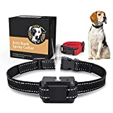 Soyao Anti-Bell-Halsband, automatisches Bell-Halsband mit Spray, wiederaufladbar über USB, für große, mittelgroße und kleine Hunde