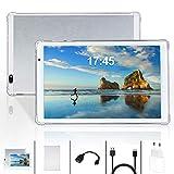 YOUXD Tablet 10 Zoll, Android Tablet PC Android 10 mit 4 GB RAM 64 GB ROM Quad Core CPU, IPS HD 1280 x 800, Dual Kamera/ SIM 3G Tablets Unterstützung WiFi /GPS/Bluetooth (Silber) (Silber)