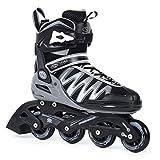 SMJ sport Herren Inliner Inlineskates Skates 82A ABEC5 Fitness PW-150 Grau (46)