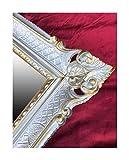 Lnxp WANDSPIEGEL BAROCKSPIEGEL Spiegel IN Silber - Gold DUALCOLOR 90x70 cm ANTIK BAROCK Rokoko Shabby CHIC Renaissance JUGENDSTIL Retro Design MIT ORNAMENTVERZIEHRUNGEN LUXURIÖS PRUNKVOLL