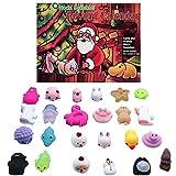 Adventskalender 2020 Weihnachts Advents Countdown Kalender mit 24 Stück Stressabbau Squeeze Toy, Christmas Advent Calendar für KinderJungen und Mädchen