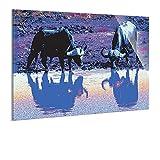 Wandbild auf Acrylglas von bilder.de, Tierwelt, abstraktes Design, Kunstdruck auf Plexiglas, ohne Rahmen, 60x40, Deko für Wohnzimmer & Schlafzimmer, modern, stilvoll