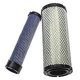 vhbw Filterset kompatibel mit Toro 5500D, 5510, 7200, 7210, Groundsmaster 322D Baumaschine Motor - 1x Innenfilter, 1x Außenfilter