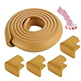 Stoßleiste 2M Baby Safety Eck Protector + 4 stücke Eckwächter Kinder Schutzmöbel Tisch Ecken Schutz Kind Sicherheit L Form Passend für; Tischeckenschutz (Color : Wood Color)