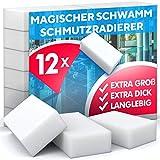 Schmutzradierer Schwamm, hohe Dichte - Nano Melamin Schwämme, Reinigung nur mit Wasser, Starke Reinigungskraft, universell einsetzbar - Magic Dirt E