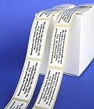 ADRESS-AUFKLEBER mit Wunschtext   mit blauer Schrift, 500 geprägte Adress-Etiketten, individuell mit Wunschtext, ca. 51 x 19 mm, für 1 bis 5 Zeilen, im Metallic-Look