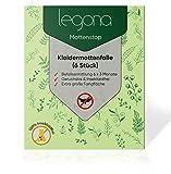 Legona - Premium Kleidermottenfalle (6 Stück) Insektizidfreie Pheromonfalle für 18 Monate Befallüberwachung/Erstklassige Mottenfalle für den Kleiderschrank mit Naturtextilien