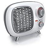 Brandson Keramik-Heizlüfter 1500 Watt Elektroheizung 2 Heizstufen Temperaturregelung Thermostat Ventilator Thermosicherung Retro Vintage Design