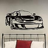 Sport Rennwagen Wandtattoo Fahrzeug Glas Aufkleber Cool Teens Jungen Schlafzimmer Wohnzimmer Garage Home Decoration Wandbild A9 42x80cm