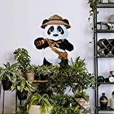 Kinderzimmer Wandsticker XXL Pandabär Wandtattoo Safari Panda Klebebilder 40x60