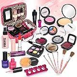 Dreamon Kinderschminke Mädchen, 24PCS Waschbar Makeup Spielzeug mit Schminkkoffer, Geschenke für Mädchen Junge 5 Jahre