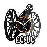 EVEVO AC-DC Wanduhr Vinyl Schallplatte Retro-Uhr Handgefertigt Vintage-Geschenk Style Raum Home Dekorationen Tolles Geschenk Wanduhr AC-DC