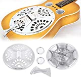 Souong Zubehör-Set für Resonator-Gitarre, mit Soundhole Steg, Spinnen, Resonatorkegel, Resonator-Kegel