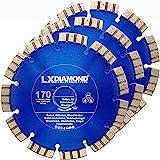 LXDIAMOND 3x Diamant-Trennscheibe 170mm PREMIUM Diamantscheibe für Beton Mauerwerk Universal Trennscheibe passend für Bepo FFS 171 SE Fensterfräse Montagefräse Fensterfugenschneider Sägeblatt 170 mm