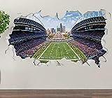 3D Wandtattoo Seattle Seahawks Field Kreativ Wandsticker Wandaufkleber Wandbilder Für Kinderzimmer Schlafzimmer Wohnzimmer Mädchenzimmer Aufkleber 15x23inch(40x60cm)