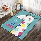 SunYe Anti-Rutsch-Dicken Samt Teppich Nach Hause Kinder Krabbeln Teppich Cartoon Korridor Couchtisch Eingangsmatte Kann Gewaschen Werden