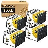 CMYBabee 20Pack 16XL Kompatibel Patronen für Epson 16XL 16 Druckerpatronen für Workforce WF2760 WF2630 WF2750 WF2660 WF2650 WF2540 WF2530 WF2010 WF2510 WF2520 ((8 Schwarz, 4 Cyan, 4 Gelb, 4 Magenta)