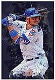 HuGuan Leinwand Bilder Kunst Baseballspieler Kris Bryant Sportbild für ation für Raumdekoration Malerei Poster Druckt Gedruckte 15.7'x23.6'(40x60cm) Kein Rahmen