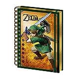 Echte die Legende von Zelda Link 3D linsenförmige A5 Wiro Hardcover Journal Notebook Papier Notizblock