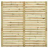 Bambuszaun,Sichtschutzzaun Kiefernholz Imprägniert Gartenzaun Element Windschutzzaun Lamellenzaun Dichtzaun Trennwand 180 x 180 cm