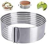YFOX Edelstahl Tortenring Multilayer Tortenschneider mit verstellbarem Mousse Ring (Ø24-30cm)