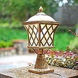 MAONB E27 Bronze Outdoor Stehlampe Vintage Aluminium Rostschutz Einzel Metallpfosten Licht Gang Säule Scheinwerfer Außen wasserdichte Hoflamp