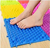 Fußmassage Acupressur Matte Spiel Fußreflexzonenmatte Wanderung Zehenplatte Massage Pad Badezimmer MAT Yoga MAT Sportmatte 2 Stück Blue*2