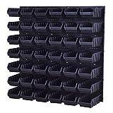 Stapelboxen Lagersystem Wandregal Box Sichtlagerkästen Schüttenregal 42 Boxen 2L