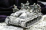 weizhang 1:35 Resin Modellbausatz für 8 deutsche Soldaten (ohne Panzer) im Zweiten Weltkrieg, unmontiert und unbemalt
