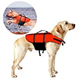 Hundeschwimmweste, Poppypet Doggy Aqua-Top Schwimmweste Schwimmtraining für Hunde, Orange M