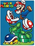 ZKDT Leinwand Poster witzig Mario Poster Modernes Poster Wandkunst Druck Bild Wanddekoration (ungerahmt,12x18inch/30x45cm)