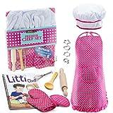 JaxoJoy Komplettes Kinder-Koch- und Backset – 11-teilig, inklusive Schürze für kleine M