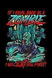 If i came back as a Zombie: KALENDER 2020/2021 mit Monatsplaner/Wochenansicht mit Notizen und Aufgaben Feld! Für Neujahresvorsätze Halloween ... I Geschenk für Horror Grusel Zombie