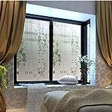 LMKJ Frosted Thickened Peony Flower Glass Window Film, Grille Sticker, Window Flower Sticker, Bathroom and Bathroom Film A99 50x100cm