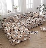 Moderner Plaid Print Stretch L-Form Schnittbezug Geometrie Spandex Sofabezug für Wohnzimmer Enge Wrap Couch Cover A18 1 Sitzer