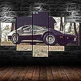 183Tdfc Mit Rahmen Leinwanddrucke 5 Teilig Wandbild Panel Malerei Leinwand Corvette Stingray C3 Auto Modern Wohnzimmer Schlafzimmer Wand Dekoration Wohnkultur 150 * 80cm