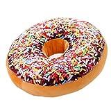 Nunubee rundes Donut-Kissen, Plüsch, Zierkissen für Bürostuhl, Autositz., Muster 4, 40*40cm
