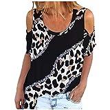 Eaylis Damen Mode O-Ausschnitt Kragen Shirt 3D gedruckte Bluse Kurzarm Bluse Tops, Elegant Shirt Casual Blusen Lässiges Hemd Langam/Kurzarm Tuniken T-Shirts Tops