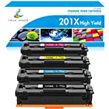 True Image Kompatibel Tonerkartusche als Ersatz für HP 201X 201A CF400X CF400A CF401X CF402X CF403X Color Laserjet Pro MFP M277dw M252dw M277n M252n M274n (Schwarz,Cyan,Gelb,Magenta, 4er-Pack)