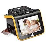 KODAK Slide N SCAN Film und Slide Scanner mit großem 5 Zoll LCD-Bildschirm wandelt Negative und Dias in Farbe und Schwarz-Weiß 35 mm, 126, 110 Negative und Dias in JPEG-Dig
