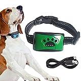 Automatisches Anti Bell Halsband,Erziehungshalsband Hund, Wasserdicht Anti-Bell-Halsbänder,No-Schock Geeignet, für große Hunde, mittlere Hunde, kleine Hunde- Green
