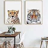 Shinering Leinwanddruck, Motiv: niedlicher Löwe, Zebra, Elefant, Giraffe, Baby-Tiere, Kunstdruck für Kinderzimmer, Kinderzimmer, Wanddekoration 24 x 16 inches 40 x 60 cm.