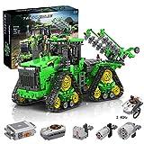 Trueornot Technik Bausteine Auto Ferngesteuerter Raupentraktor, 1706 Klemmbausteine 2.4G Raupentraktor mit Motoren Bauset Konstruktionsspielzeug Kompatibel mit Lego