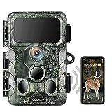 TOGUARD WLAN Bluetooth 4K Wildkamera 30MP Jagdkamera mit IR-LEDs Nachtsicht-Wildkamera 120° Erkennung Bewegungsaktiviert IP66 Wasserdicht 2,4' LCD